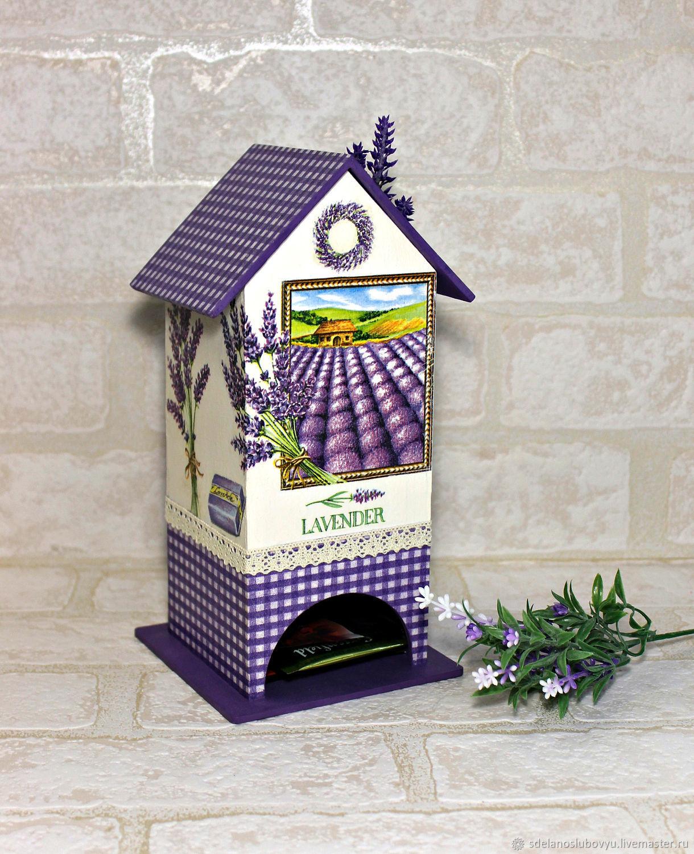 Tea house lavender, decoupage, Houses, Moscow,  Фото №1