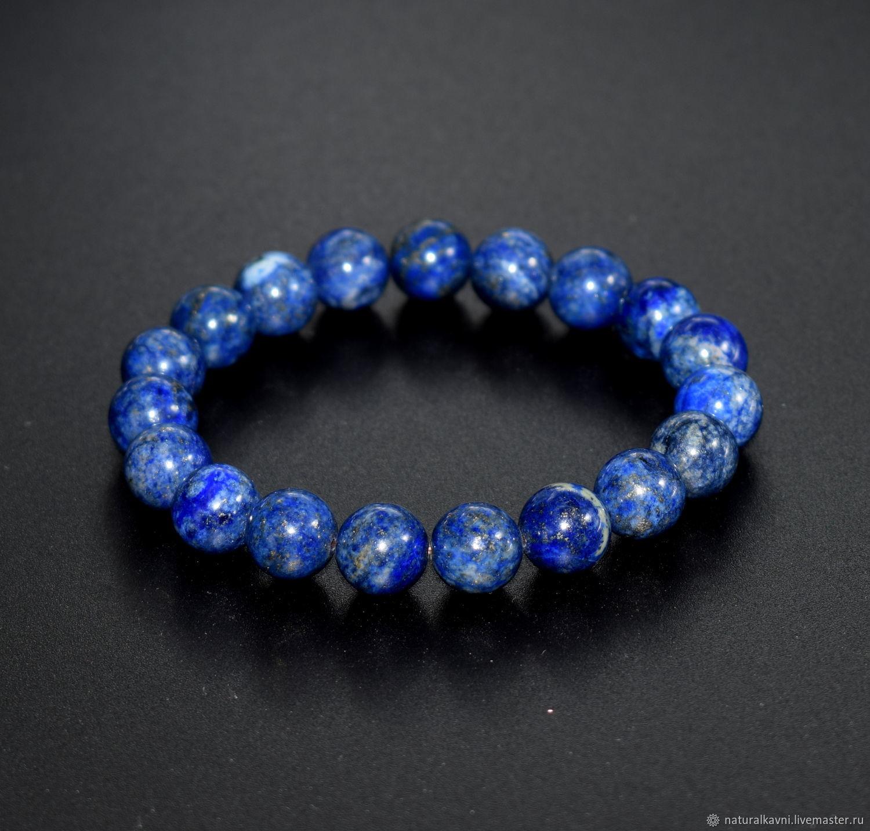 Bracelet natural blue lapis lazuli, Bead bracelet, Moscow,  Фото №1