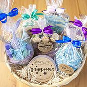 Косметика ручной работы handmade. Livemaster - original item Set of natural cosmetics in blue and lilac tones. Handmade.