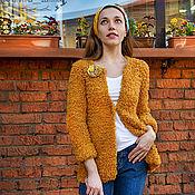 """Одежда ручной работы. Ярмарка Мастеров - ручная работа Жакет """"Цветочный мед"""" с брошью. Handmade."""