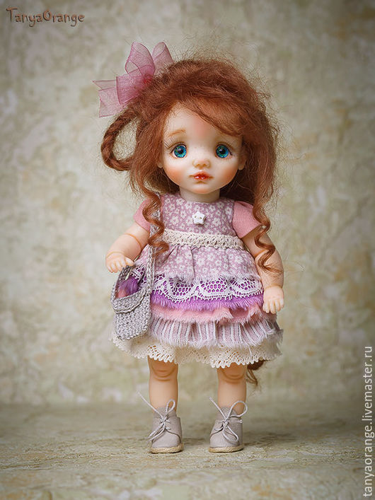 Коллекционные куклы ручной работы. Ярмарка Мастеров - ручная работа. Купить Яночка 18см. Handmade. Малышка, полимерная глина, ребенок