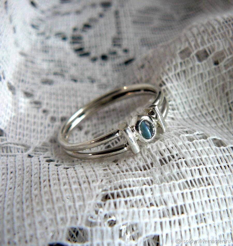 Cymophan, chrysoberyl (alexandrite), silver ring, Rings, Glazov,  Фото №1