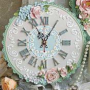 """Часы классические ручной работы. Ярмарка Мастеров - ручная работа Часы настенные """" Алиса"""". Handmade."""