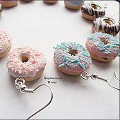 Украшения ручной работы. Ярмарка Мастеров - ручная работа Серьги - пончики. Handmade.