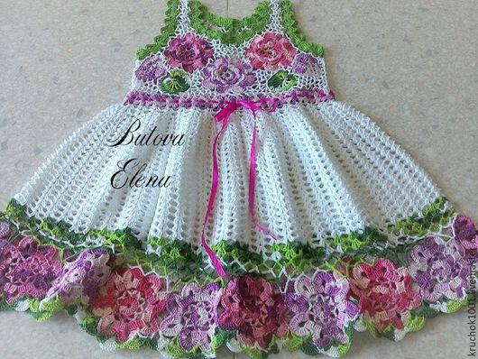 """Одежда для девочек, ручной работы. Ярмарка Мастеров - ручная работа. Купить Платье """" Цветочная фантазия"""". Handmade. Комбинированный"""