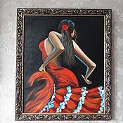 Картины и панно ручной работы. Ярмарка Мастеров - ручная работа Фламенко.. Handmade.