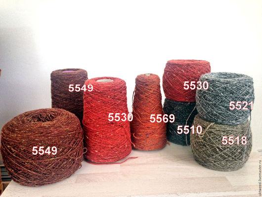 Вязание ручной работы. Ярмарка Мастеров - ручная работа. Купить Soft Donegal Tweed -100% меринос. Handmade. Рыжий