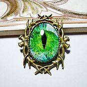 """Украшения ручной работы. Ярмарка Мастеров - ручная работа Брошка """"Глаз""""-зелёный. Handmade."""