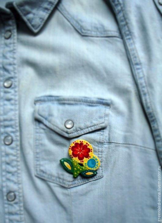 Брошь `Цветы`