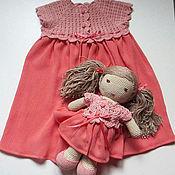 Подарки к праздникам ручной работы. Ярмарка Мастеров - ручная работа Подарок для девочки 1-2 годика: нежное платье и уютная кукла Лиля. Handmade.