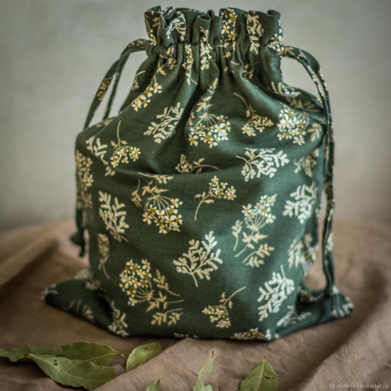 Мешок, мешочек для хранения из льна. Упаковка. Экомешочки. Экомешки, Подарочная упаковка, Калининград,  Фото №1