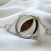 Украшения handmade. Livemaster - original item Round transparent bracelet from titanium jewelry resin. Handmade.