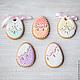 Gingerbread Easter Filigrane. Gingerbread Cookies Set. prynik. My Livemaster. Фото №6