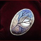 Украшения ручной работы. Ярмарка Мастеров - ручная работа Брошь Лунное видение, вышивка бисером. Handmade.