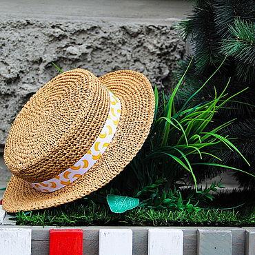 Аксессуары ручной работы. Ярмарка Мастеров - ручная работа Шляпы: Шляпа Канотье. Handmade.