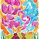 Заказать Иллюстрации к сказкам. Олеся Осипова Яркая живопись. Ярмарка Мастеров. . ОткрыткиФото №3
