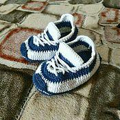 Работы для детей, ручной работы. Ярмарка Мастеров - ручная работа Пинетки - кроссовки. Handmade.