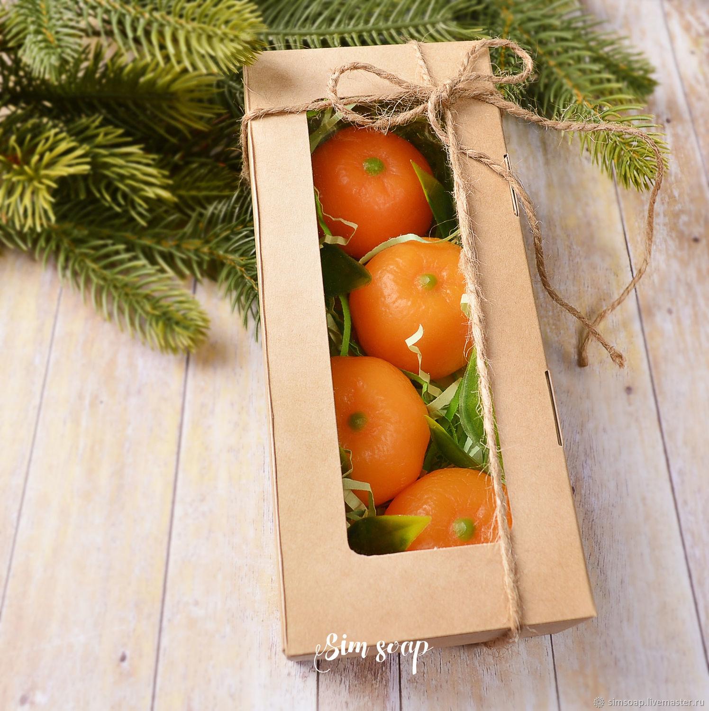 Набор мыла в коробке Мандарины, Мыло, Санкт-Петербург,  Фото №1