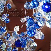 """Украшения ручной работы. Ярмарка Мастеров - ручная работа Колье """"Синий дождь"""". Handmade."""