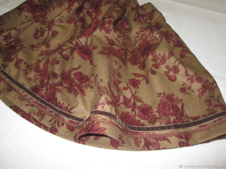 Clothes for Girls handmade. Livemaster - handmade. Buy Skirt ' Cinnamon honey'.Brown, short skirt