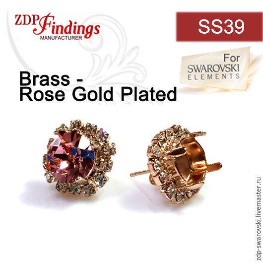 Артикул PO39SSCRYRP  = цвет стразов  прозрачный, цвет металла розовое золото.