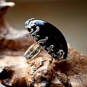 Кольца ручной работы. Ярмарка Мастеров - ручная работа Морион кольцо. Handmade.