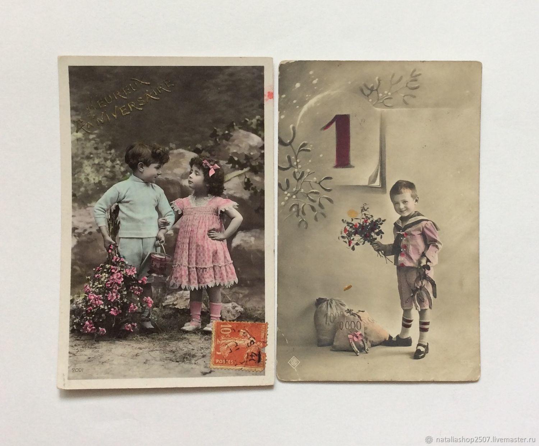 Винтаж: Антикварная Открытка подписана, Открытки винтажные, Москва,  Фото №1