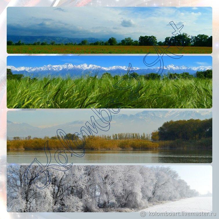 Фотоколлаж «Времена года». Цифровой файл. Работа для примера, Фото, Алматы, Фото №1