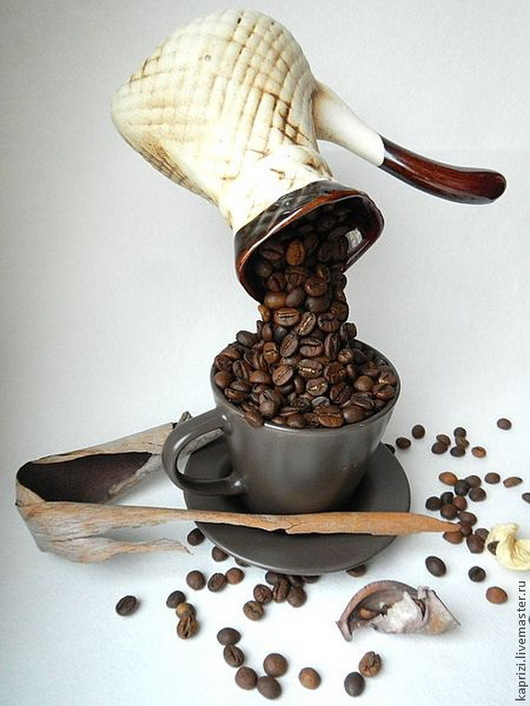 Персональные подарки ручной работы. Ярмарка Мастеров - ручная работа. Купить Кофе в турке. Handmade. Коричневый, Кофейный топиарий, подарок