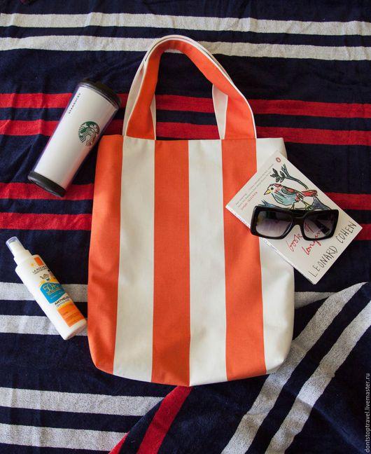 Женские сумки ручной работы. Ярмарка Мастеров - ручная работа. Купить Сумка пляжная, полосатая. Handmade. В полоску, море