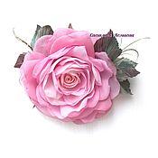 Украшения handmade. Livemaster - original item FABRIC FLOWERS. Chiffon rose-brooch