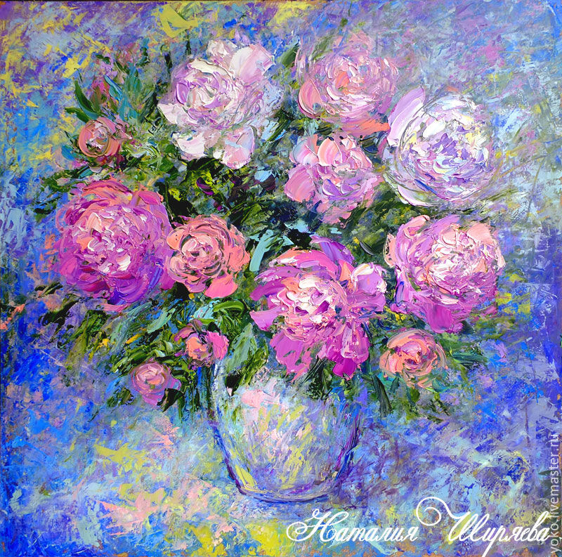 Painting peonies 'Romantic Mood' painting with peonies oil, Pictures, Voronezh,  Фото №1