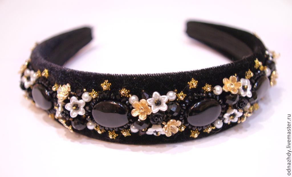 Headband-tiara 'Sicily' in the style of Dolce & Gabbana, Headband, Moscow,  Фото №1