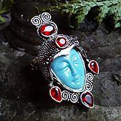 """Кольца ручной работы. Ярмарка Мастеров - ручная работа Кольца: """"Лунная Богиня"""" с кубическим цирконом. Handmade."""
