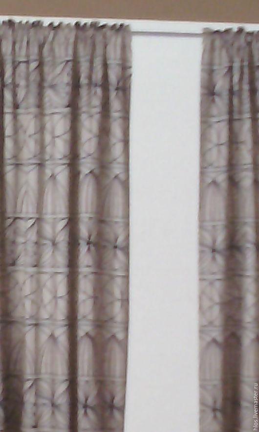 Текстиль, ковры ручной работы. Ярмарка Мастеров - ручная работа. Купить льняные шторы на тесьме. Handmade. Комбинированный, для гостиной, хлопок