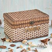 Для дома и интерьера ручной работы. Ярмарка Мастеров - ручная работа Плетеная шкатулка для хранения, плетеный сундучок. Handmade.