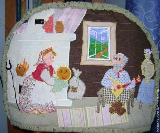 """Кухня ручной работы. Ярмарка Мастеров - ручная работа. Купить грелка на кастрюлю """"Колобок"""". Handmade. Комбинированный, грелка на кастрюлю, подарок"""