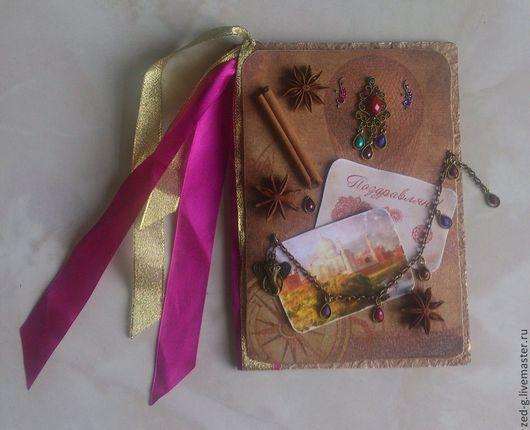 """Открытки на день рождения ручной работы. Ярмарка Мастеров - ручная работа. Купить Открытка """"Путешествие""""- Индия. Handmade."""