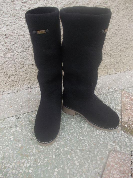 """Обувь ручной работы. Ярмарка Мастеров - ручная работа. Купить Сапоги женские валяные """" Яна"""". Handmade. Черный"""