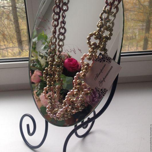 Колье, бусы ручной работы. Ярмарка Мастеров - ручная работа. Купить Колье '' Нежного цветка бутон... ''. Handmade.