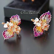 Украшения handmade. Livemaster - original item Exclusive collectible earrings, VIDEOS, rare stained glass decoration. Handmade.