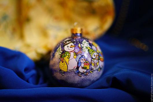 """Новый год 2017 ручной работы. Ярмарка Мастеров - ручная работа. Купить Новогодний шар """"Семья"""". Handmade. Комбинированный, Новый Год"""