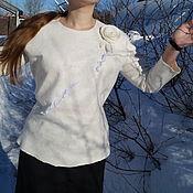 """Блузки ручной работы. Ярмарка Мастеров - ручная работа Свитшот  валяный"""" Молочный"""". Handmade."""