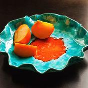 Тарелки ручной работы. Ярмарка Мастеров - ручная работа Тарелка для фруктов. Handmade.