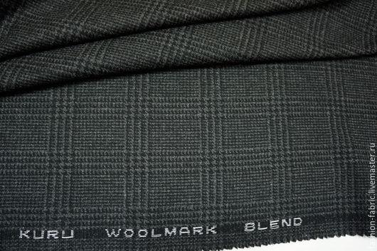 Шитье ручной работы. Ярмарка Мастеров - ручная работа. Купить Костюмное шерстяное сукно в клетку BT1 9035929 Италия Цена за метр. Handmade.
