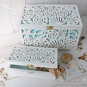 Свадебный салон handmade. Livemaster - original item Wedding chest (wedding Treasury), box-banknote made of wood. Handmade.
