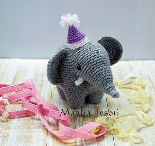 Игрушки животные, ручной работы. Ярмарка Мастеров - ручная работа. Купить Вязаный слон Массимилиано. Handmade. Слон, игрушка в подарок