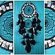 Ловцы снов ручной работы. Заказать Black Dreamcatcher silver mosaic Dream Catcher Large Dreamcatcher. Anna Bijouterie (AnnaBijouterie). Ярмарка Мастеров.