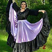 Одежда ручной работы. Ярмарка Мастеров - ручная работа Цыганская юбка Сирень. Handmade.