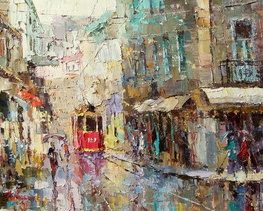 Город ручной работы. Ярмарка Мастеров - ручная работа. Купить Трамвай желаний. Handmade. Город, городской пейзаж, трамвай, улицы